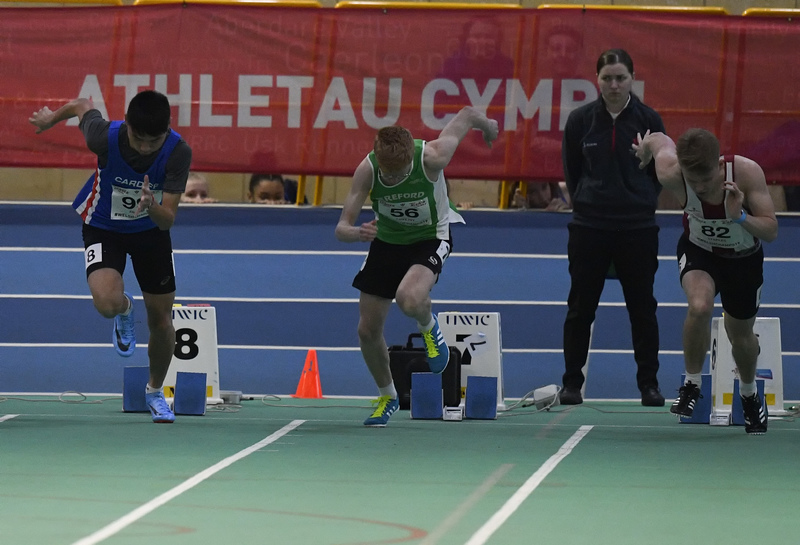 _GRG6035.jpg :: in action during the Welsh Junior Athletics Championships 2019 at N.I.A.C Cardiff United Kingdom on February 02 2019 Graham / GlennSports