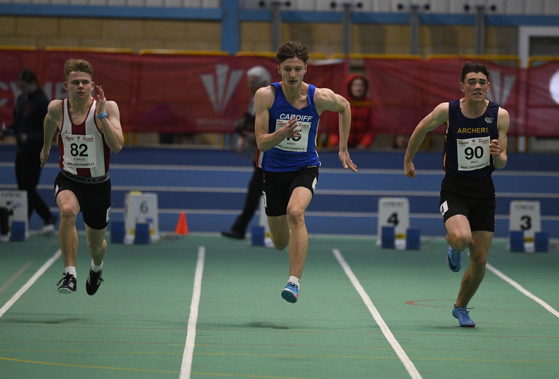 _GRG6040.jpg :: in action during the Welsh Junior Athletics Championships 2019 at N.I.A.C Cardiff United Kingdom on February 02 2019 Graham / GlennSports