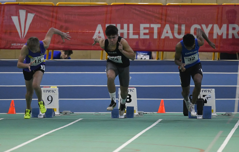 _GRG6053.jpg :: in action during the Welsh Junior Athletics Championships 2019 at N.I.A.C Cardiff United Kingdom on February 02 2019 Graham / GlennSports
