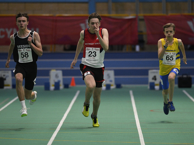 _GRG6071.jpg :: in action during the Welsh Junior Athletics Championships 2019 at N.I.A.C Cardiff United Kingdom on February 02 2019 Graham / GlennSports