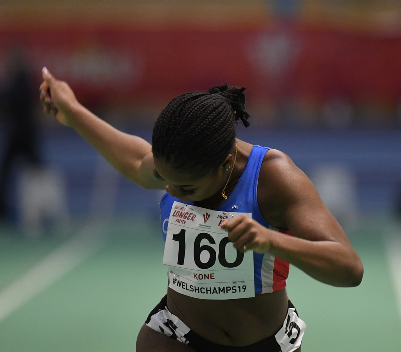 _GRG6090.jpg :: in action during the Welsh Junior Athletics Championships 2019 at N.I.A.C Cardiff United Kingdom on February 02 2019 Graham / GlennSports