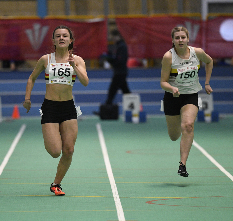 _GRG6107.jpg :: in action during the Welsh Junior Athletics Championships 2019 at N.I.A.C Cardiff United Kingdom on February 02 2019 Graham / GlennSports