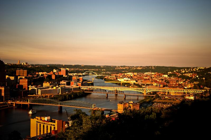 UP-1273.jpg :: Pittsburgh at dusk