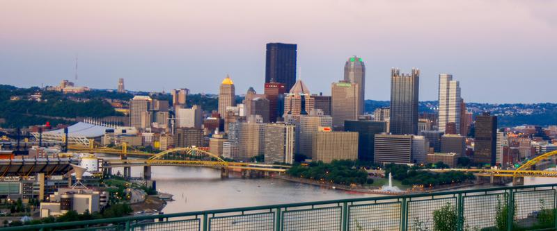 UP-1276(1).jpg :: Sunset from Mount Washington Pittsburgh