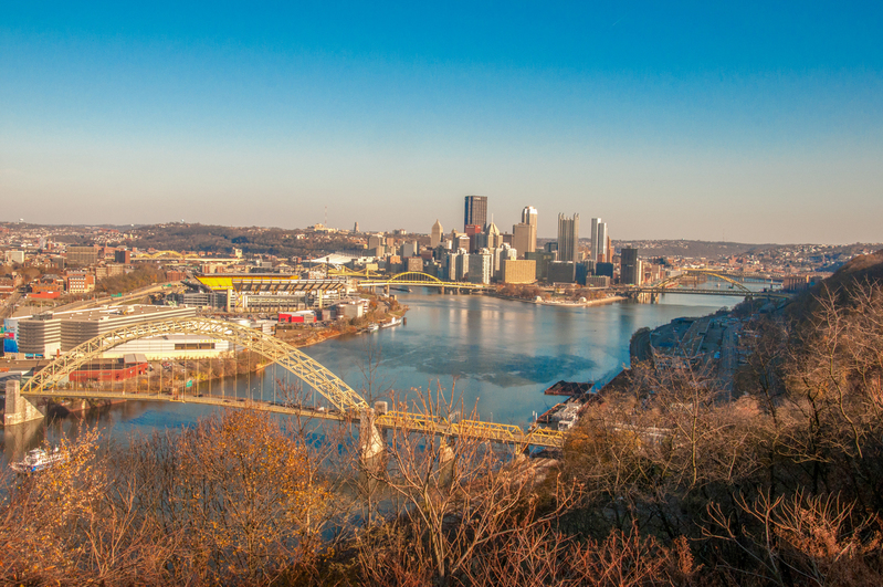 UP-2249(1).jpg :: Image from down the Ohio River of Pittsburgh.