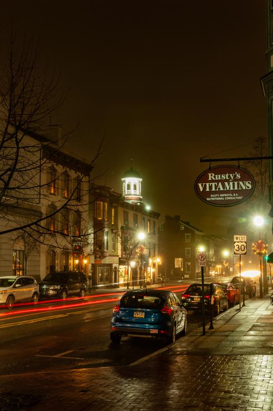 UP-4180.jpg :: Scene along Chambersburg Street Gettysburg, PA