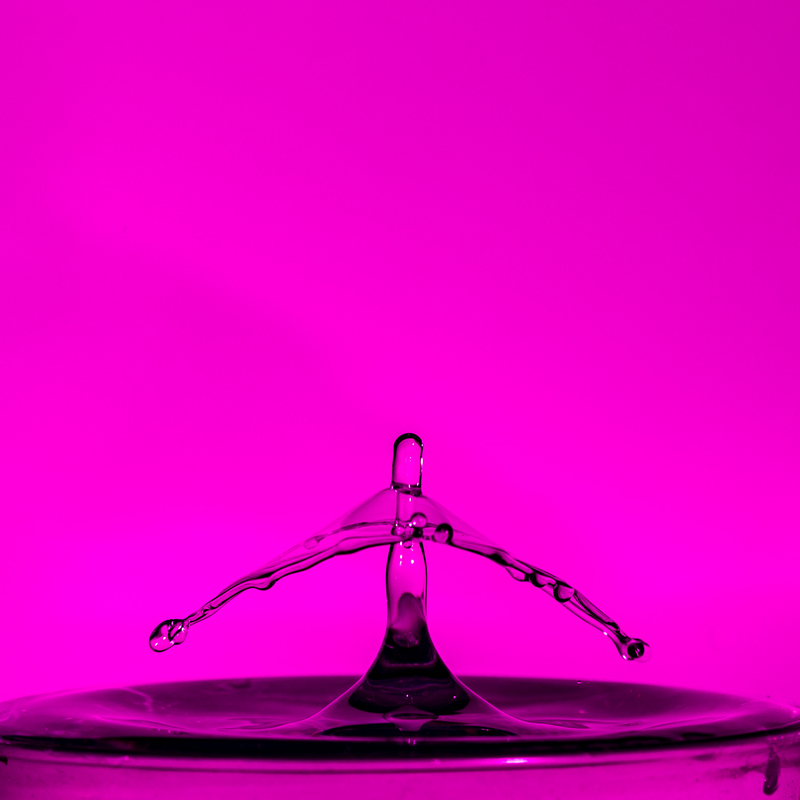 UP6_5529.jpg :: Water drop collision with a wide brime hat on.                                             #waterdrop #waterart #purple, #photooftheday, #drop, #water
