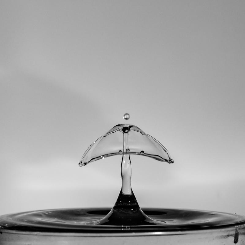 UP6_5532.jpg :: Water drop collision art.                                             #waterdrop #waterart #blackandwhite, #photooftheday, #drop, #water, #liquid