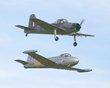 HUNTING JET PROVOST T.3A G-BWDS  XM424 PISTON PROVOST G-KAPW XF603 OLD WARDEN OCT 2012 P1010729.jpg