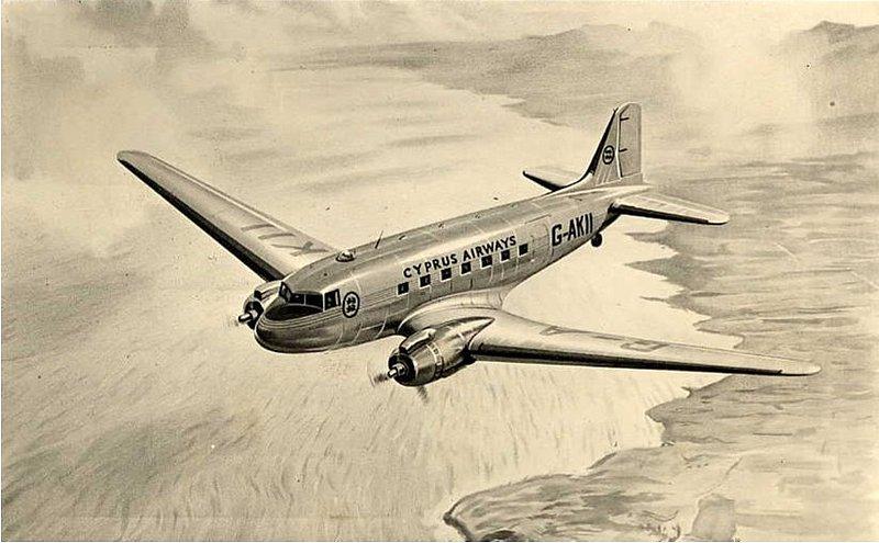Cyprus DC-3 AI 3.jpg :: Cyprus Airways, Cyprus.