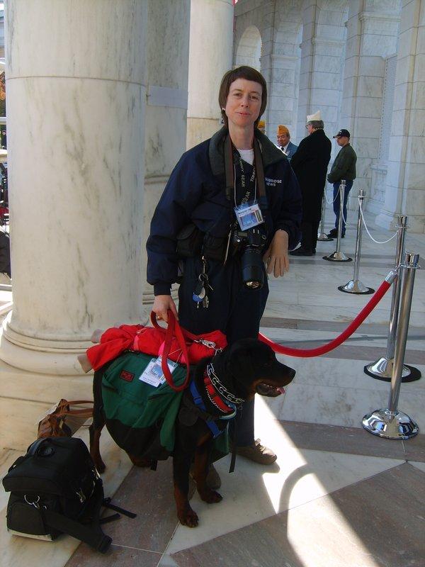 Susan  and Lightning (assist dog) at work  079.jpg