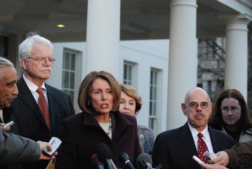 Speaker Nancy Pelosi  House Cmte Chairs at WH 471.jpg