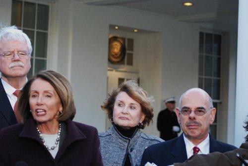 Speaker Nancy Pelosi  House Cmte Chairs at WH 472.jpg