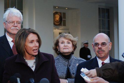 Speaker Nancy Pelosi  House Cmte Chairs at WH 474.jpg