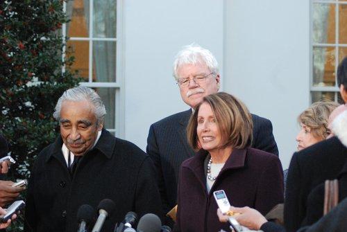 Speaker Nancy Pelosi  House Cmte Chairs at WH 478.jpg