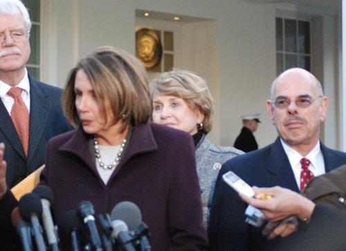 Speaker Nancy Pelosi  House Cmte Chairs at WH 480.jpg