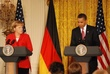 German Chancellor Angela Merkel  Pres. Obama in East Room 010.jpg