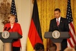 German Chancellor Angela Merkel  Pres. Obama in East Room 012.jpg