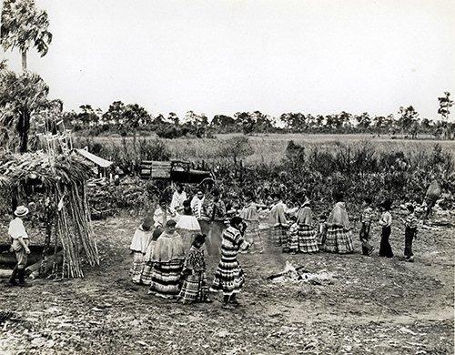 SEMINOLES 13 004LR Rare Image Of Green Corn Dance Celebration
