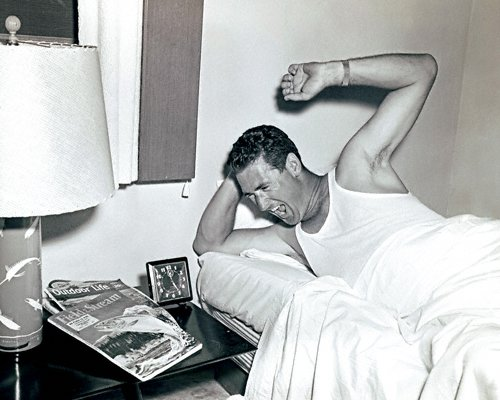 celebrities (2-014LR) Ted Williams waking up to go fishing in the Florida Keys.jpg