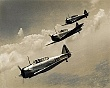 AVIATION (1-008)   WWII T-6 trainers (the Texan) in formation.jpg