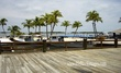 Florida Keys Blue boat with Dock and palms.jpg