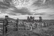 Kansas Corral fence big sky BW- On1.jpg