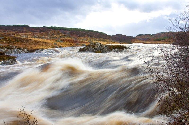 Thunderous Water.jpg :: Thunderous Water on Rannoch Moor