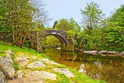 Hexworthy Bridge - Dartmoor National Park - Devon - England.jpg