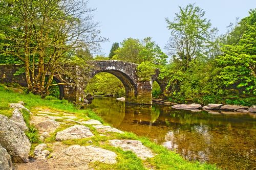 Hexworthy Bridge - In Dartmoor National Park - Devon - England.jpg