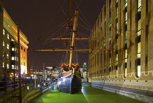 The Golden Hind a replica of Sir Francis Drakes famous ship - Southwark - London.jpg