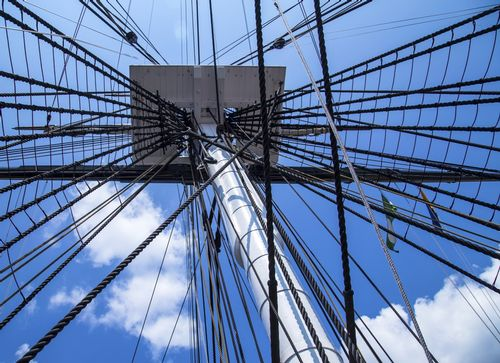 The mast and rigging of USS Constitution - Old Ironsides - Boston - Massachusetts - USA.jpg