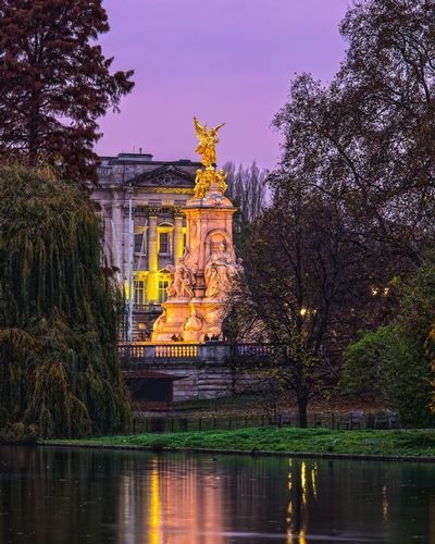 Victoria Memorial in front of Buckinham Palace from St James park - London.jpg