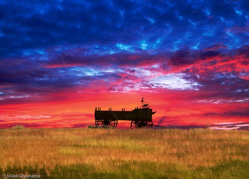 Wagon Sunset 11x14 Signed.jpg