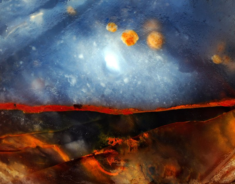 Blue Ice Nebula.jpg :: Space... the final frontier. In a rock? Yes! Polka dot Agate from Idaho.