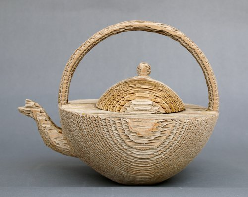 Corrugated Teapot by Ron Gerton  side view.jpg
