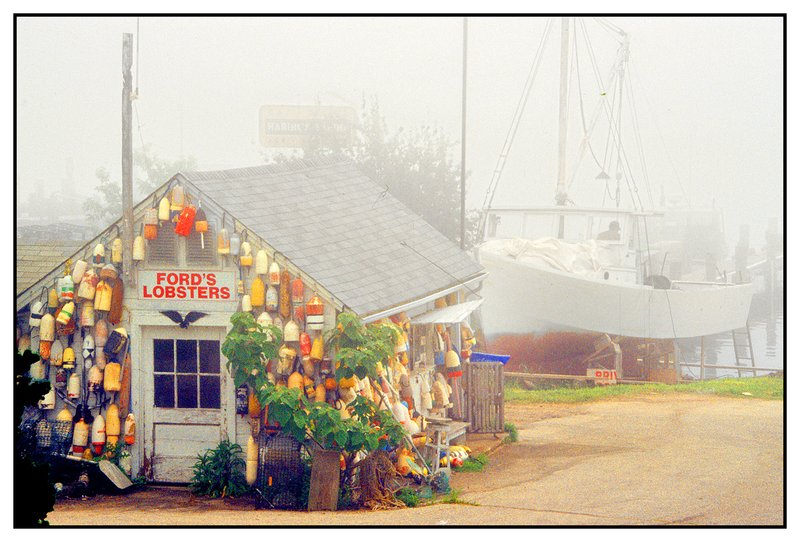 Fords Lobster-Noank.jpg :: Noank Ct. Fords Lobster is shrouded in thick fog.