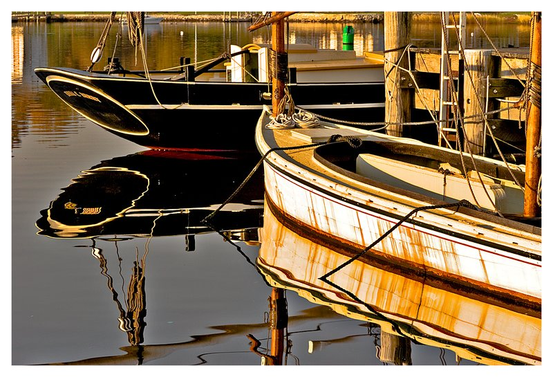 early morning and boats.jpg :: Mystic - Historic watercraft at the Mystic Seaport.