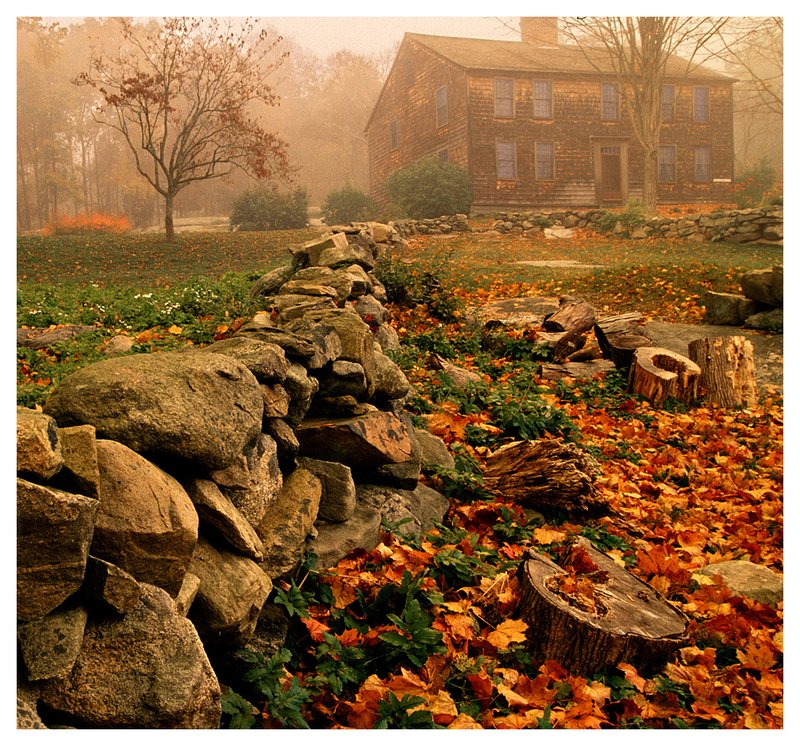 fog-Denison Homestead.jpg :: Mystic - The Denison Homestead,home of one of the oldest families of the area, on a foggy morning,