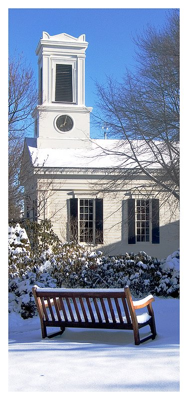 winter-Meeting House.jpg :: Mystic - The meeting house at the Mystic Seaport after a freshly fallen snow.