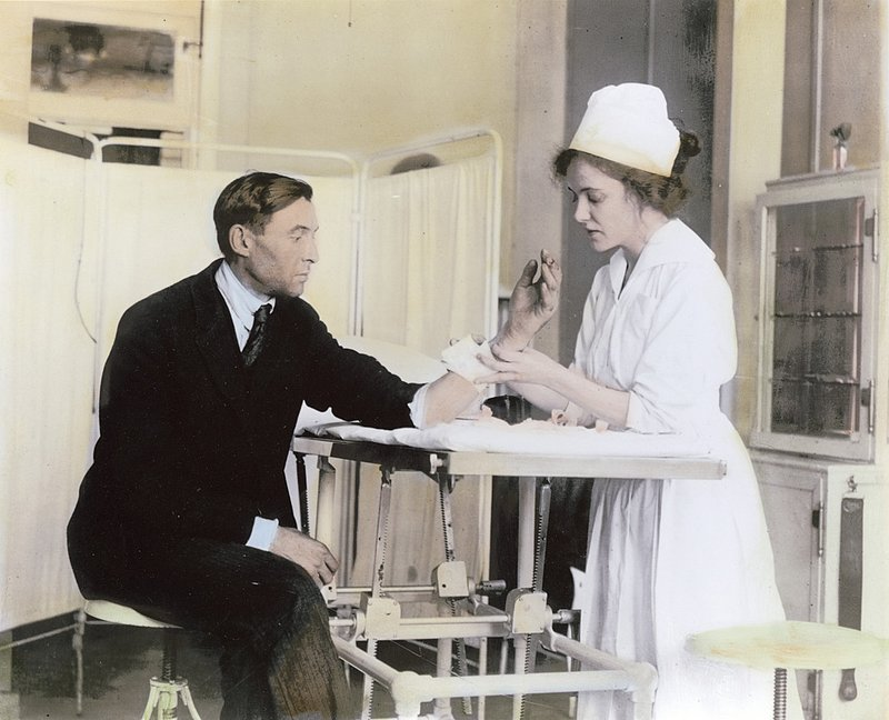 nursewithpatient.jpg :: Nurse Treating Patient, 1920