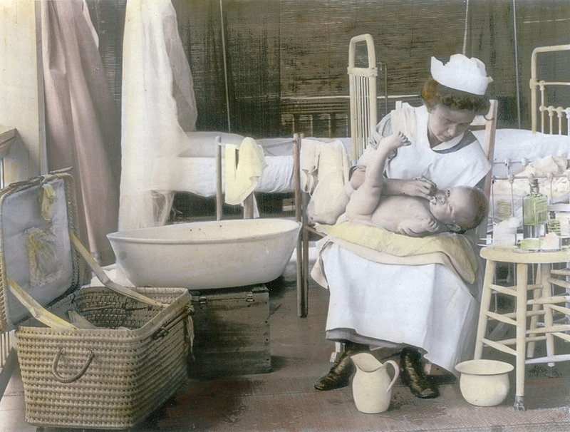 NurseBathBaby.jpg :: Nurse Bathing Baby, 1912