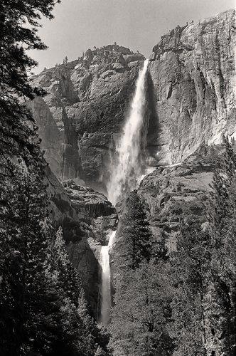 Upper and Lower Yosemite Falls Yosemite National Park California. 35mm Film.jpg