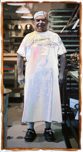The Baker - 36x69 Inch - Mixed Media -3D - Motion Activated Sound Photograph - See Video.jpg