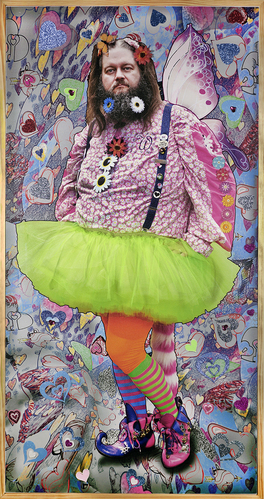The Fairy Wit - 36x69 Inch - Mixed Media -3D - Motion Activated Sound Photograph - See Video.jpg