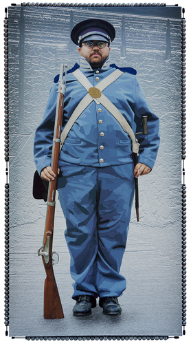 The Soldier- 36x69 Inch - Mixed Media -3D - Motion Activated Sound Photograph - See Video.jpg