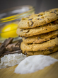Stack of chocolate chip cookies surrounded by ingredients 001.jpg