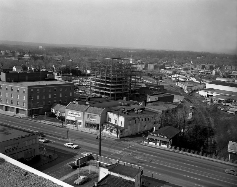 100A.jpg :: Overall view 7200 block Wisconsin Ave from roof of Police Station 1964