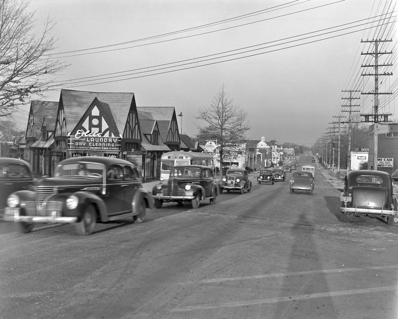 107A Old Georgetown Rd Facing Northwest from Wisconsin Ave 1939.jpg :: Facing NW Old Georgetown Rd from Wisconsin Ave 1939