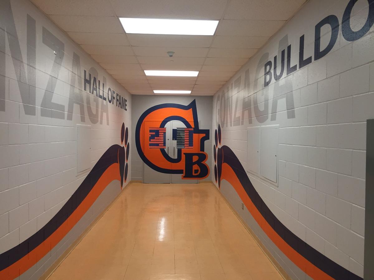 St Aloysius Gonzaga Css Gym Entrance Mural1 School Murals
